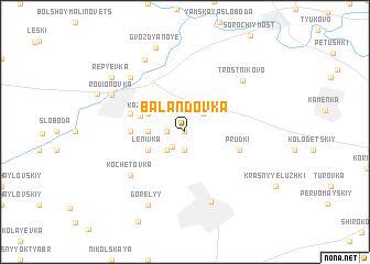 map of Balandovka