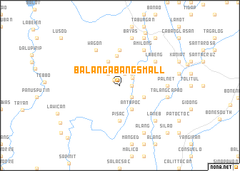 map of Balangabang Small