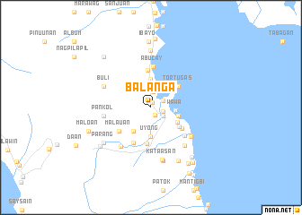map of Balanga