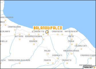 map of Balano di Falco