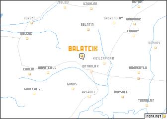 map of Balatcık