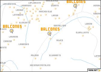map of Balcones