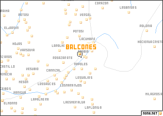 map of Balcones
