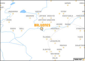map of Baldones