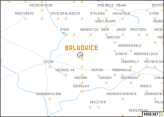 map of Bałdowice