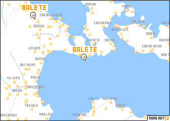 map of Balete
