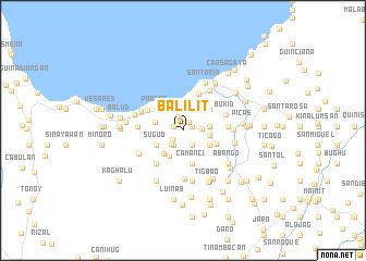map of Balilit