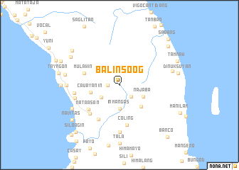 map of Balinsoog