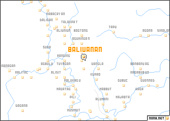 map of Baliuanan