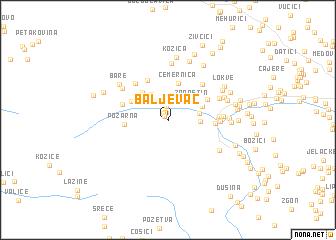 map of Baljevac