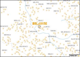 map of Baljvine