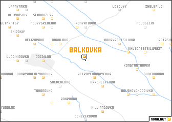 map of Balkovka