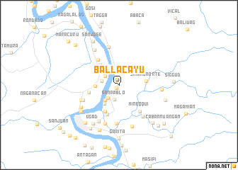 map of Ballacayu