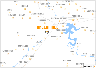 map of Ballew Mill