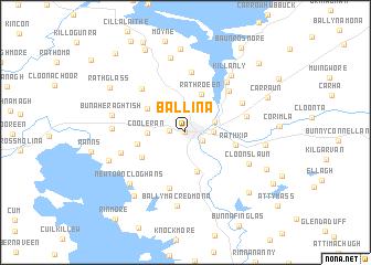 map of Ballina