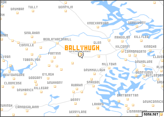 map of Ballyhugh