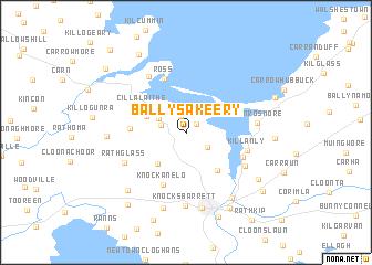 map of Ballysakeery