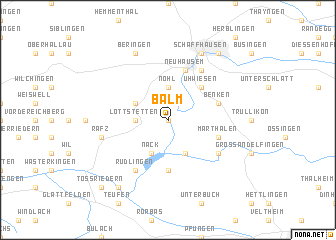 map of Balm