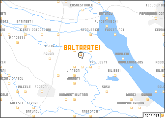 map of Balta Raţei