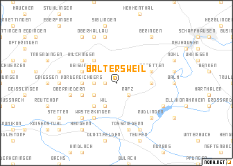 map of Baltersweil