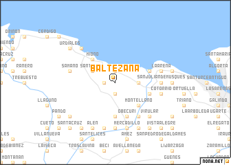 map of Baltezana