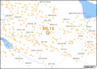 map of Balte