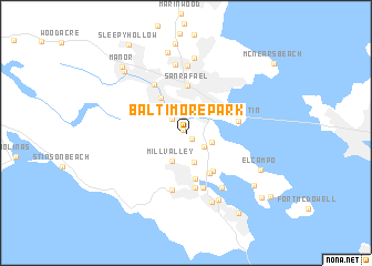 Baltimore Park United States USA map nonanet