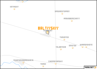 map of Baltiyskiy