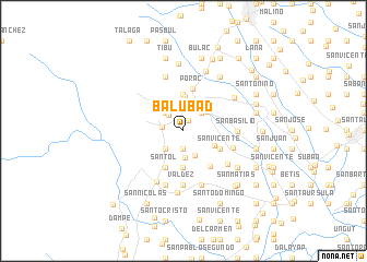 map of Balubad