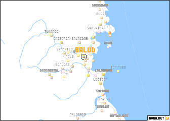 map of Balud