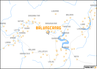 map of Balungcanag