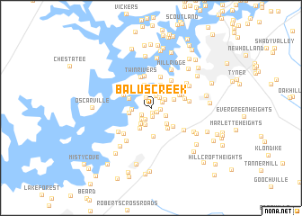 map of Balus Creek