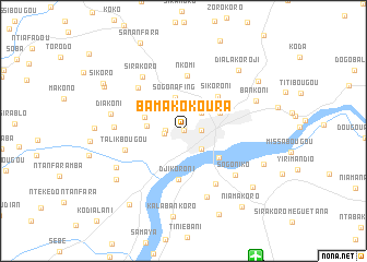 map of Bamako Koura
