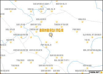 map of Bambadinga