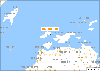 map of Banacon