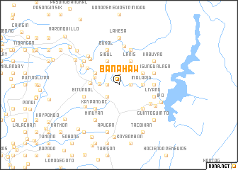 map of Banahaw