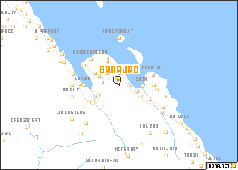 map of Banajao