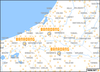 map of Banaoang