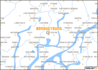 map of Banawgyaung