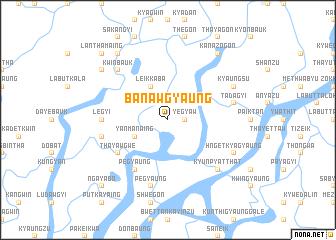 map of Banawgyaung