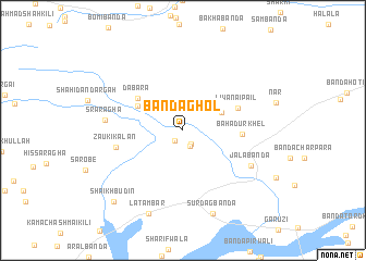 map of Bānda Ghol