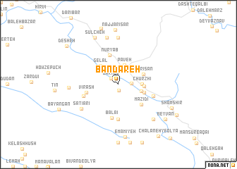 map of Bandareh