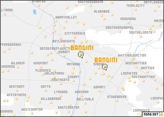 map of Bandini