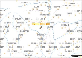 map of Bandongan