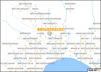 map of Ban Don Makok