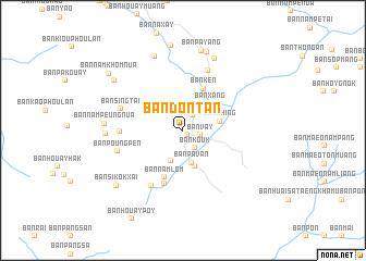 Ban Dontan Laos map nonanet