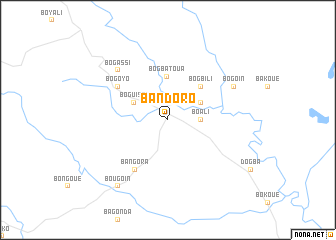 map of Bandoro