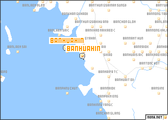map of Ban Hua Hin