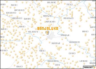 map of Banja Luka