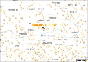map of Banja Stijena